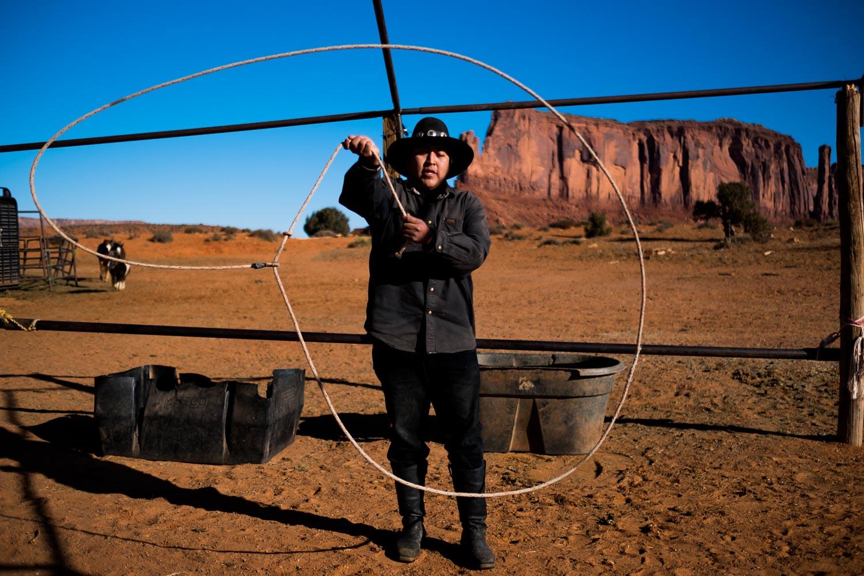 Native Youth // Royden Teeasyatoh, 26 years old, Horseman/Rancher, Navajo Nation. Monument Valley, AZ.