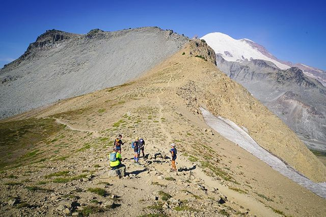 Three successful laps around @mountrainiernps Wonderland Trail, guiding w/ @aspire.adventure.running: 280 miles, 66,000 of total elevation gain, three amazing groups, and three of the best co-leaders @abramdickerson, @_giebs + @wiley_buck. You've got my heart, Tahoma. (Photo: Panhandle Gap, 6,750ft.) #territoryrunco #runnersofthewild #beetelite #protectpubliclands #adventurerunning