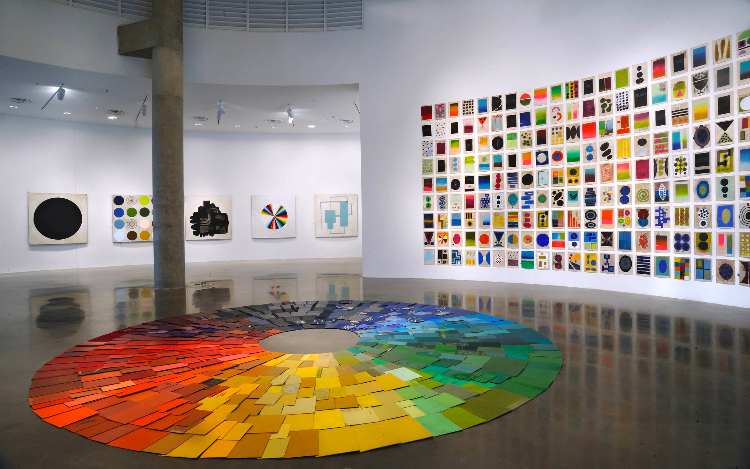 Installation view of   Quest for a Third Paradise   at the Katzen Arts Center