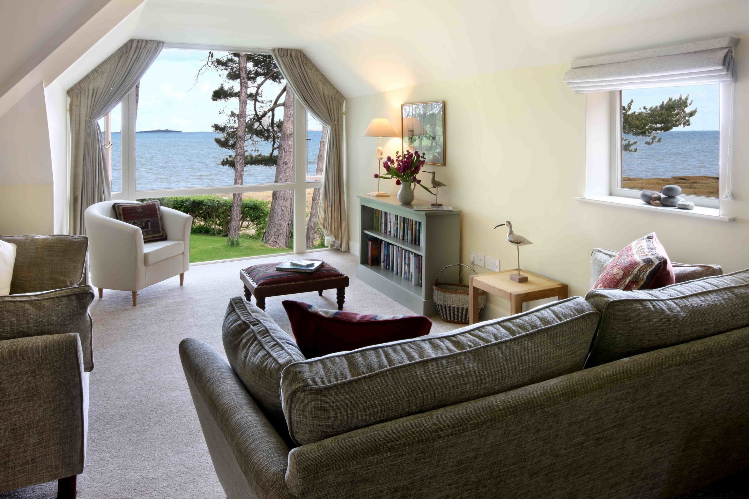 holy island bay cottages The Byre view from living room