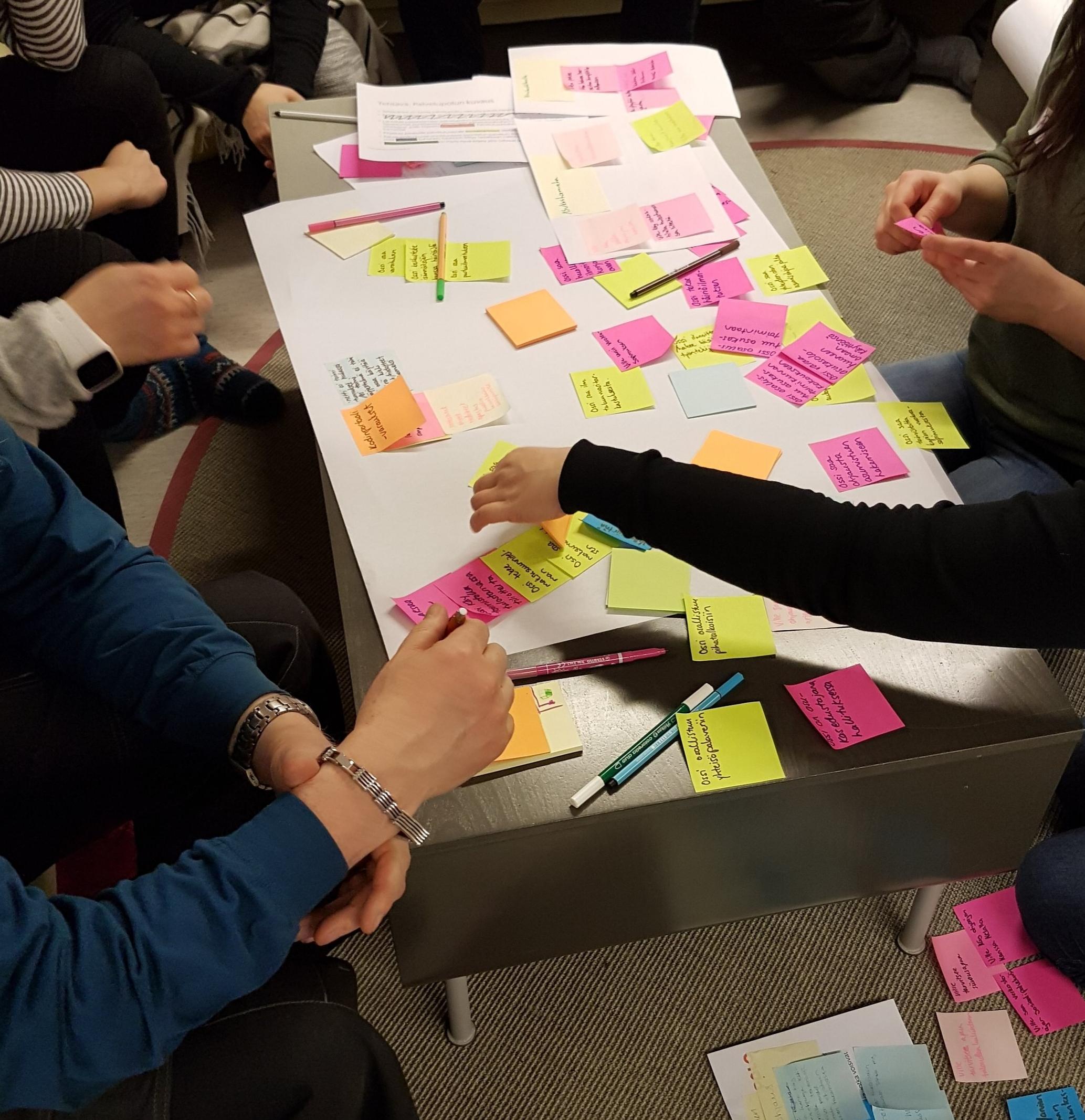 Palvelupolku visualisoi aineetonta palvelua ja auttaa tiimiä keskustelemaan palvelusta konkretian äärellä