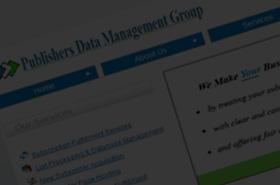 Publishers Data Management Group - Subscription Management Service