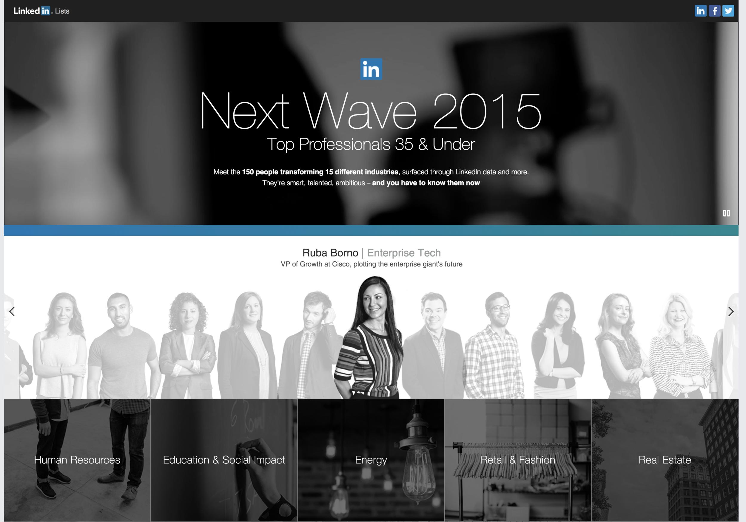 LinkedIn Next Wave 2015 List