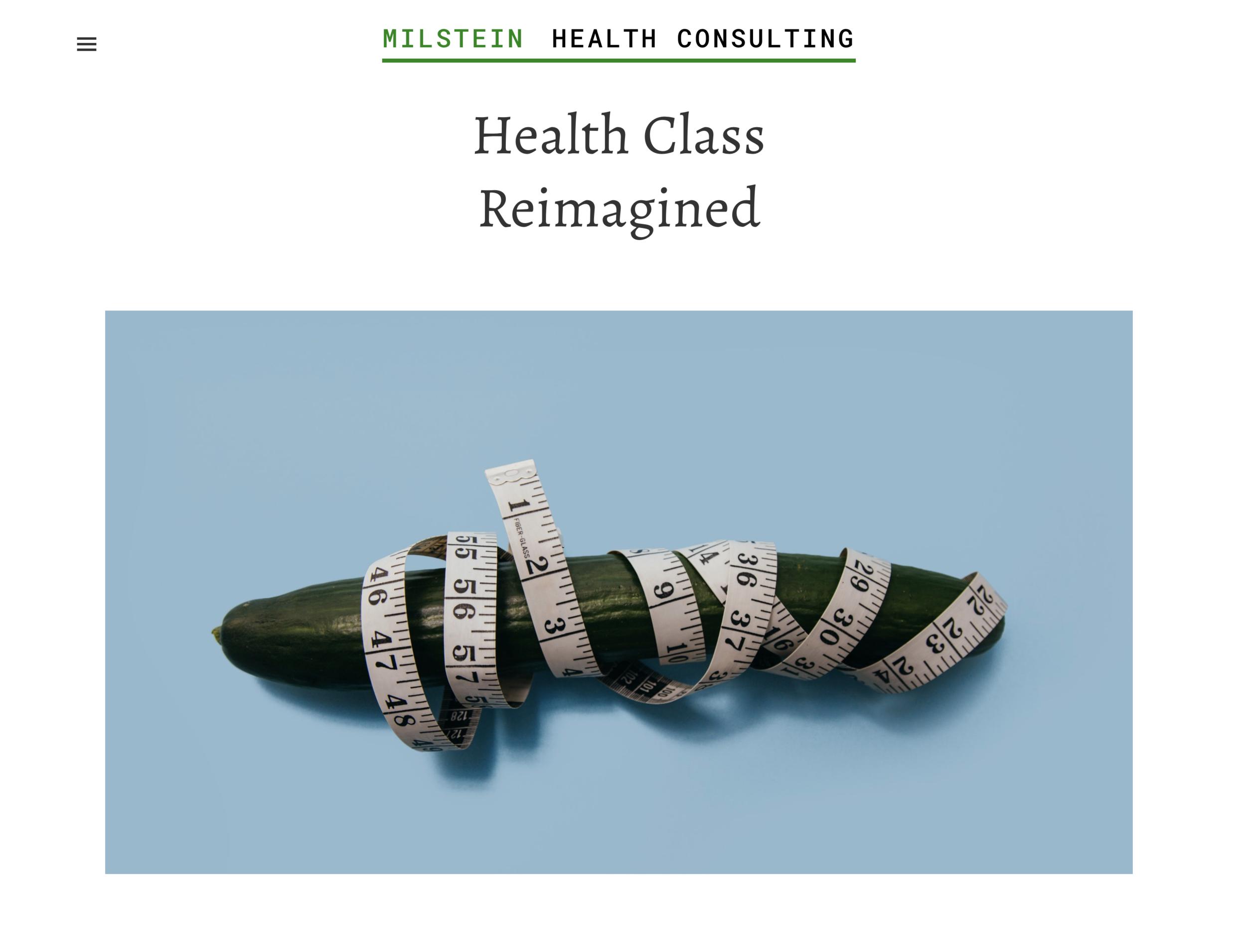 milstein health consulting