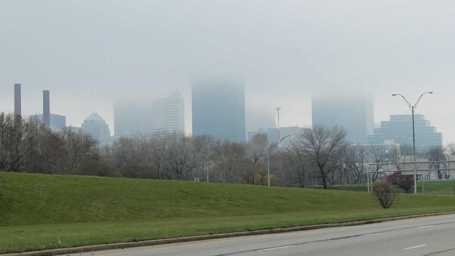 Cleveland on a cloudy day
