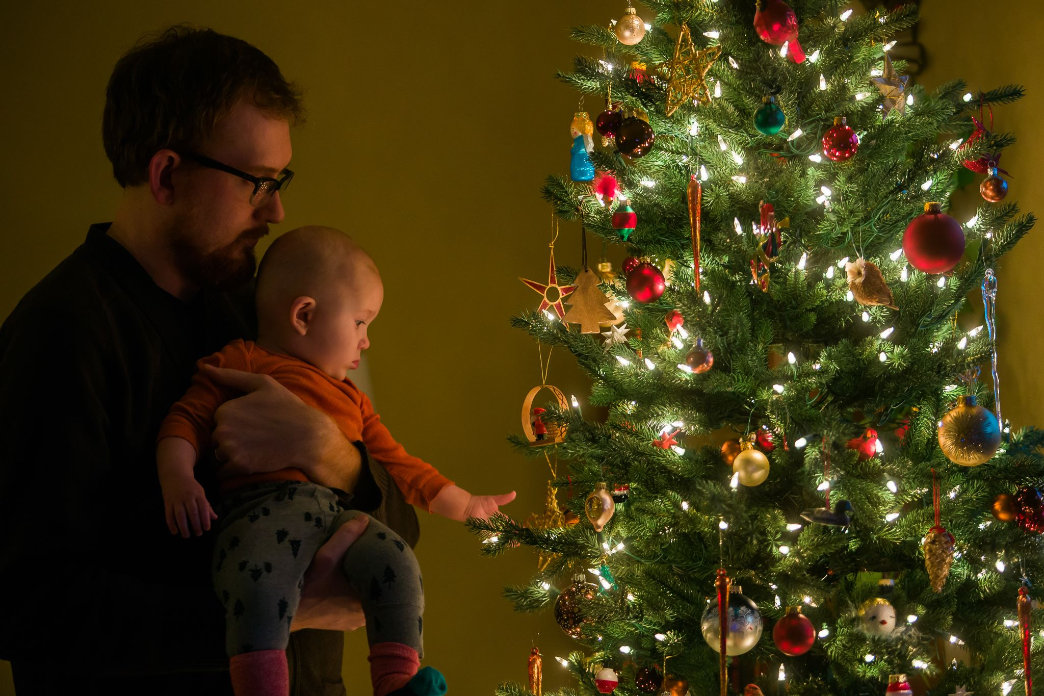 Jack's First Christmas in Minneapolis, 6 months old.