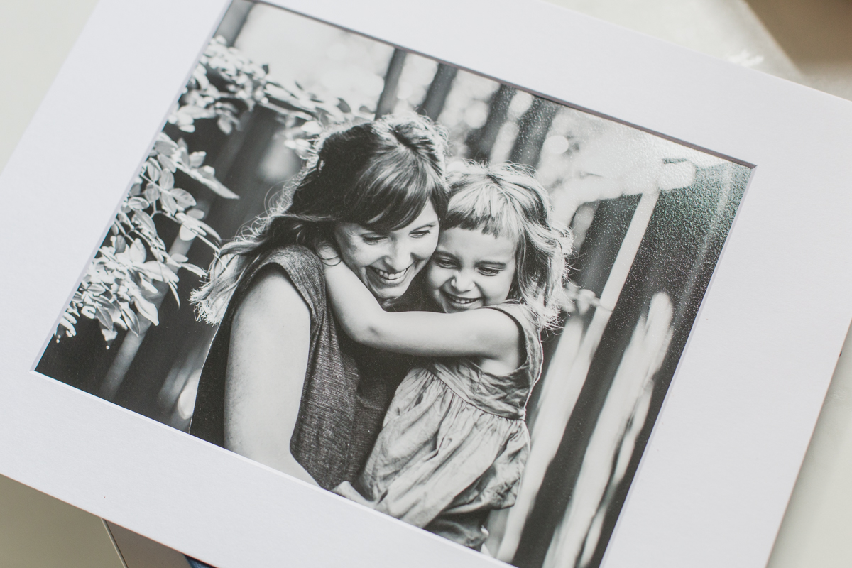 Black + white textured art print, matted and ready to be framed!