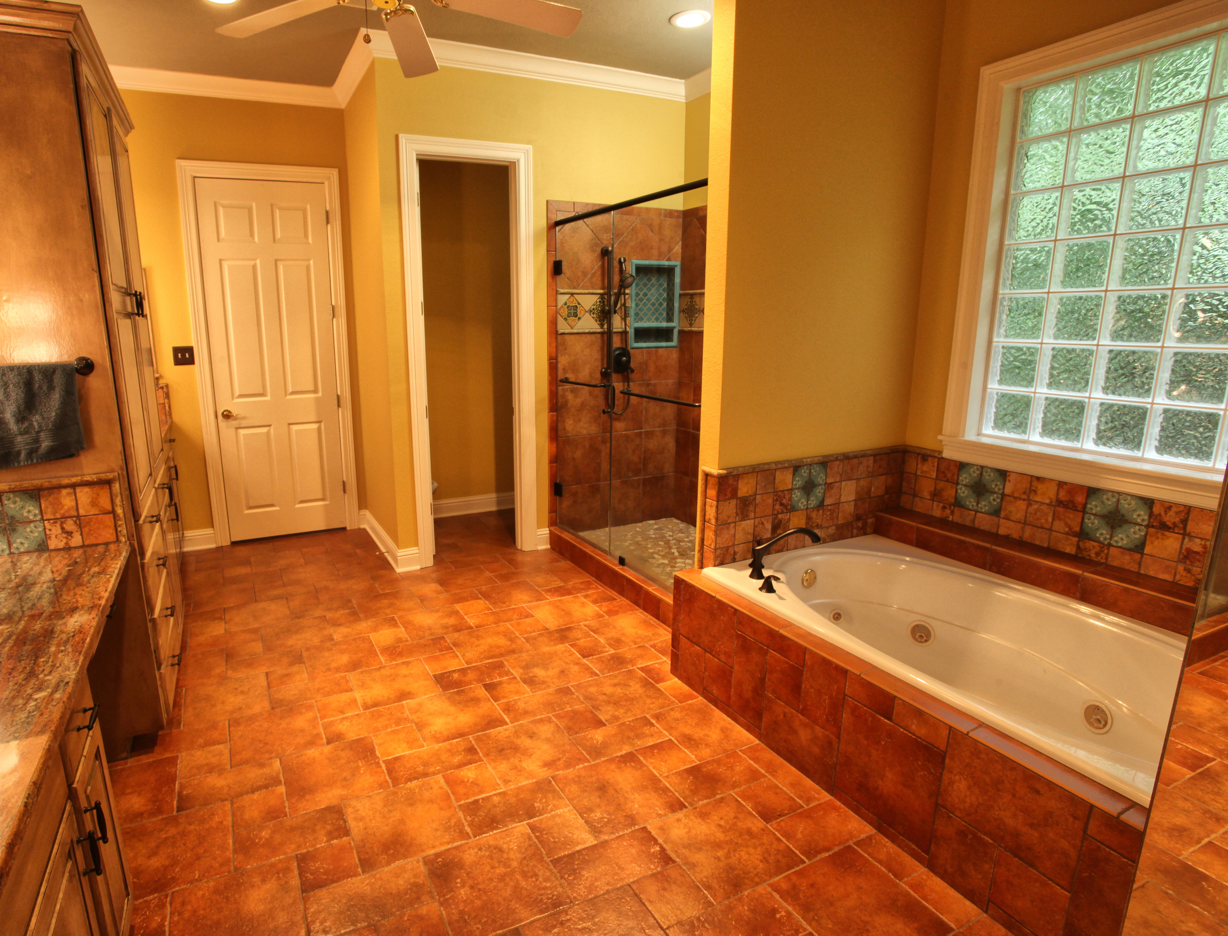 Master bath remodel - southwest style - ambiance interior design