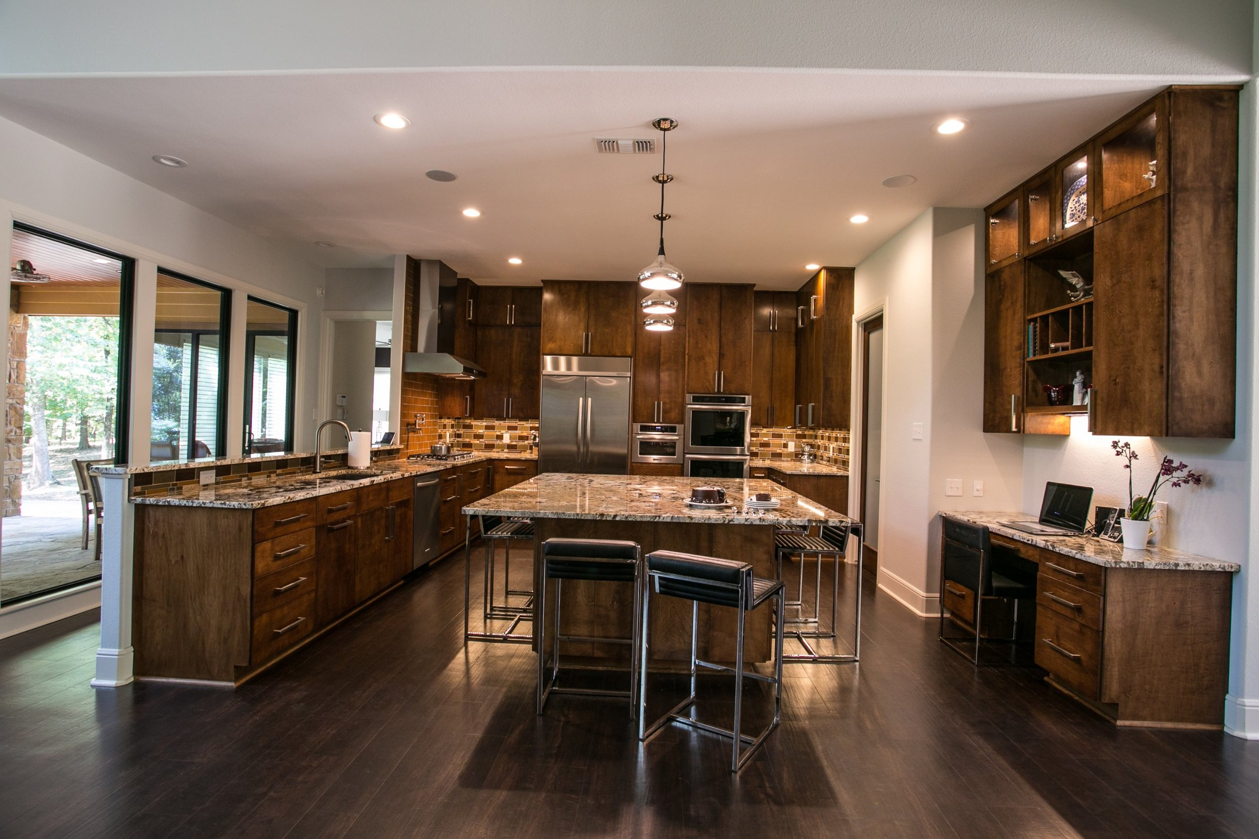 open kitchen plan - contemporary remodel in Nacogdoches, Texas