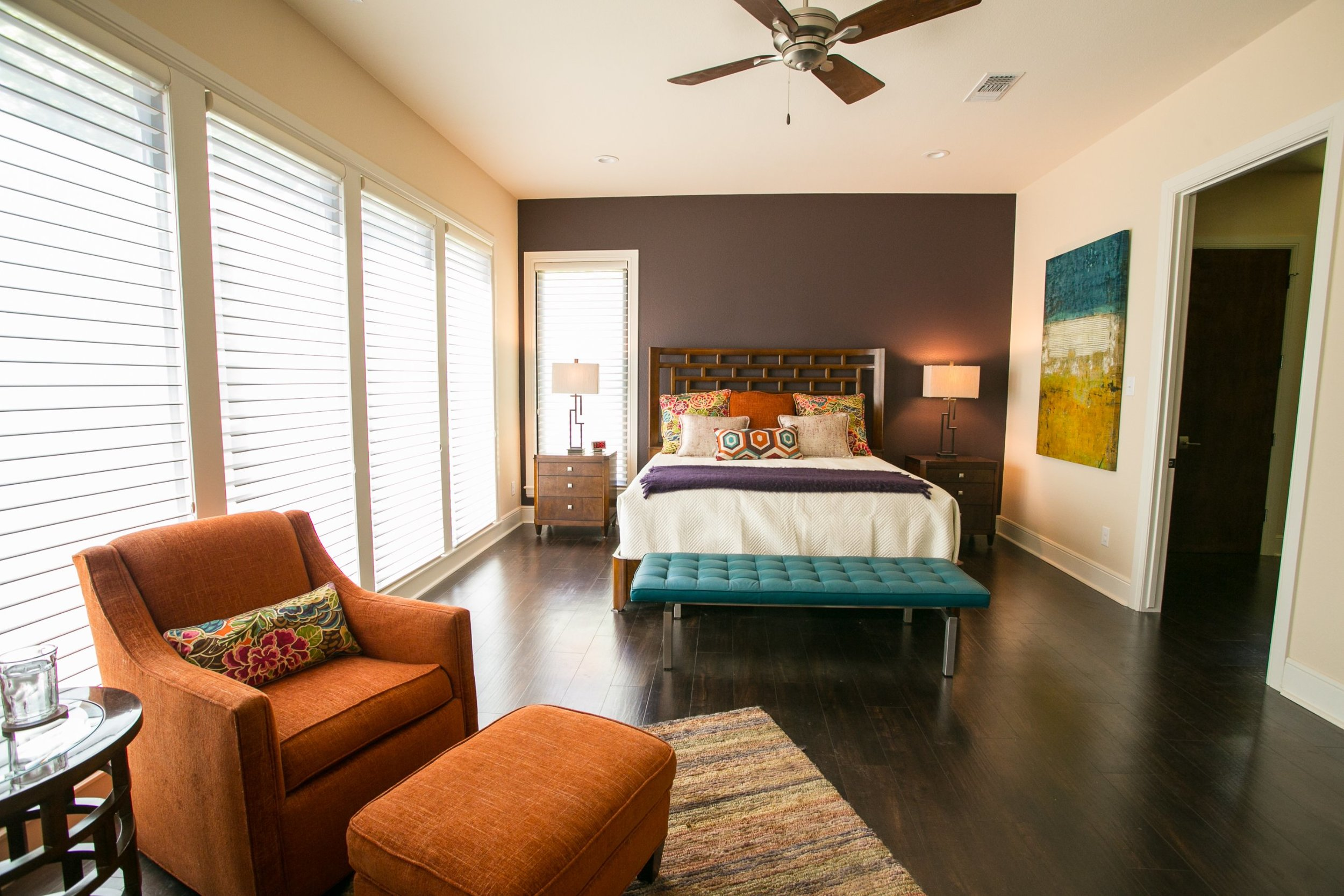 Contemporary master bedroom by Jill Ornelas at Ambiance