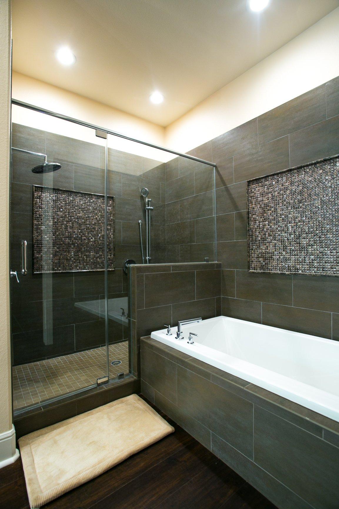 Custom tile - modern master bath