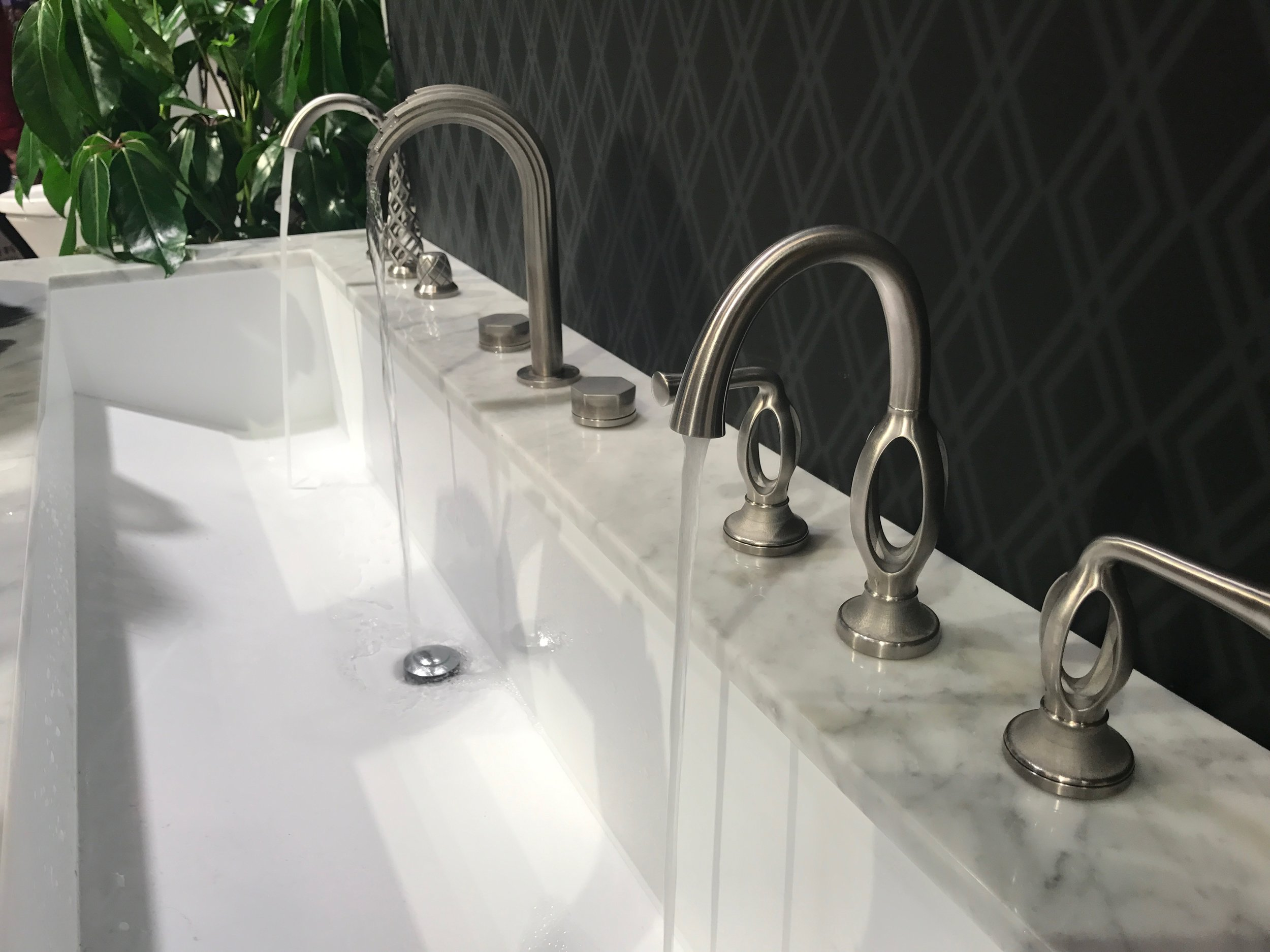 Intriguing faucets at the DXV American Standard booth KBIS 2017