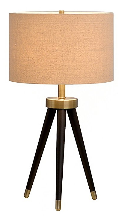 - This modern bronze lamp with brass accents and linen shade can add just the right touch of 70's to your living room.