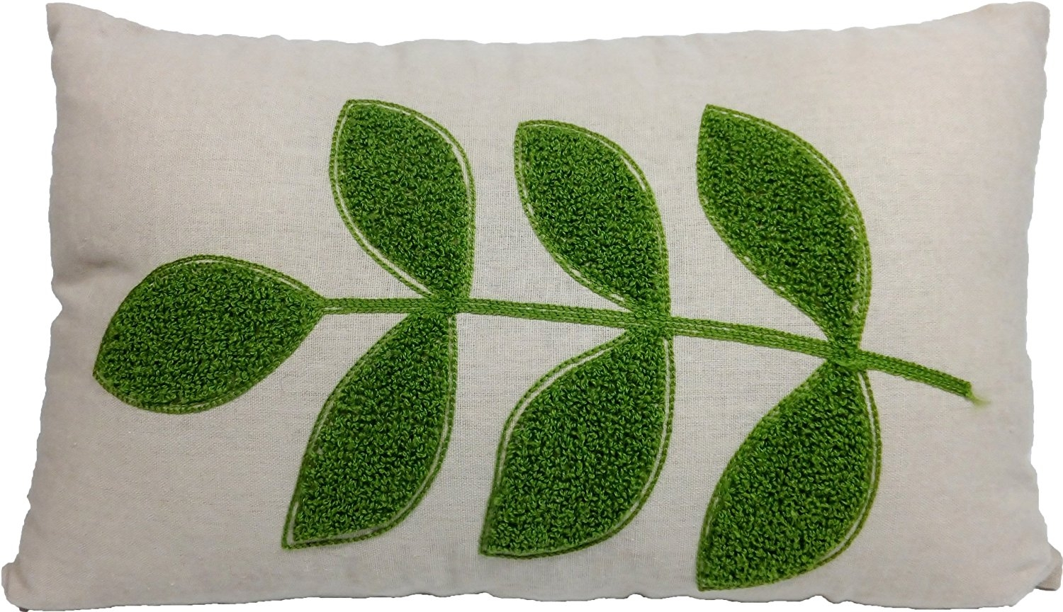 - I love this cute leaf embroidered pillow!  And his inexpensive price is a painless way to add just a touch of 70's inspired plant pattern.