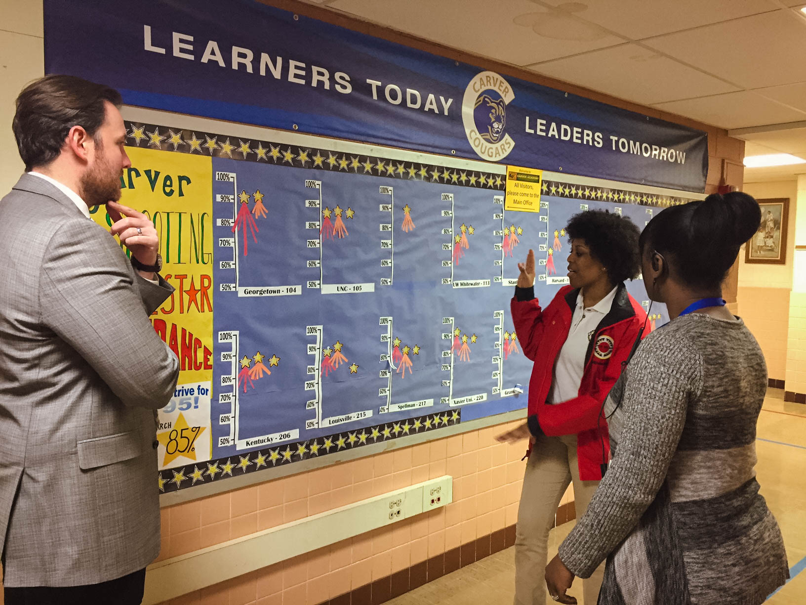 2pm School Tours: The best way to understand what City Year does is to see it in action. Potential partners are invited to do a school tour, and corps members support in leading these tours.