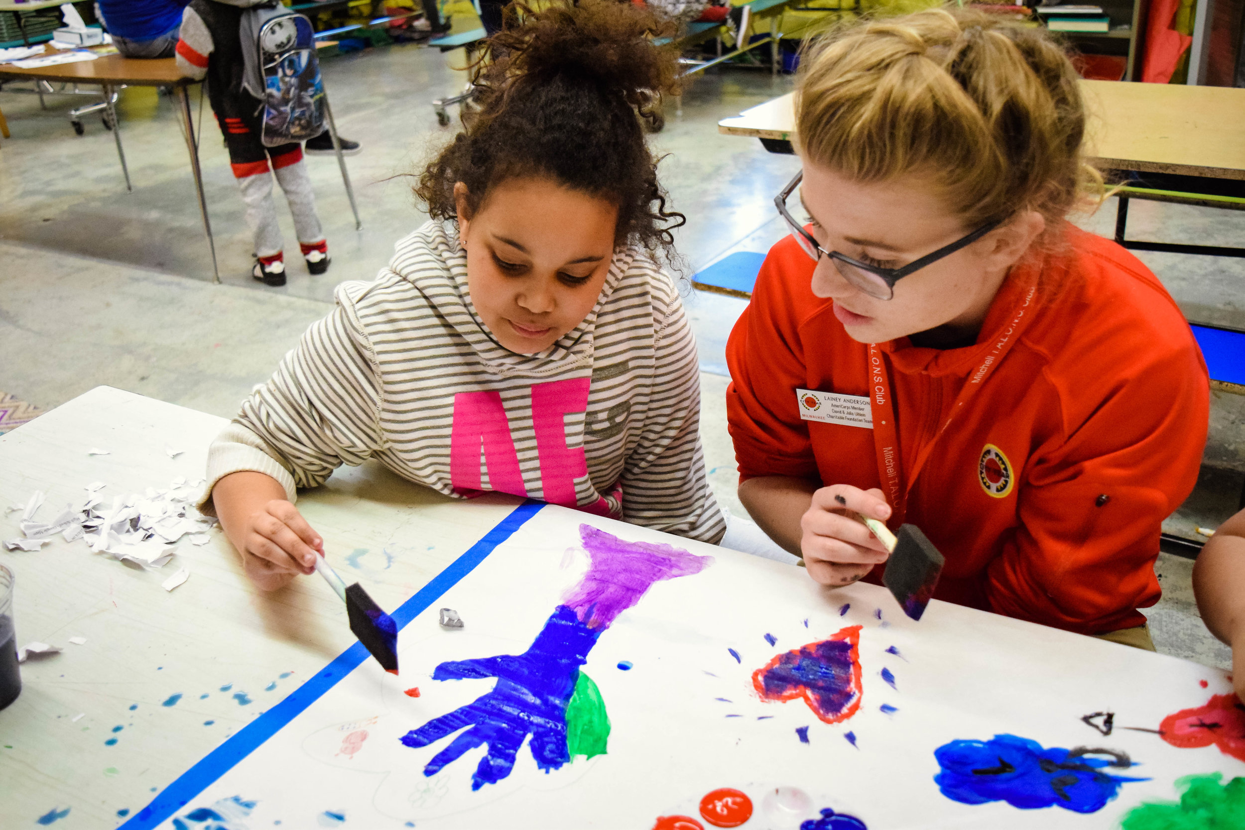 3pm Afterschool:Corps members support the Community Learning Centers that run most schools'afterschool programming.Corps members provide homework assistance, support enrichment activities, and help plan family engagement nights.