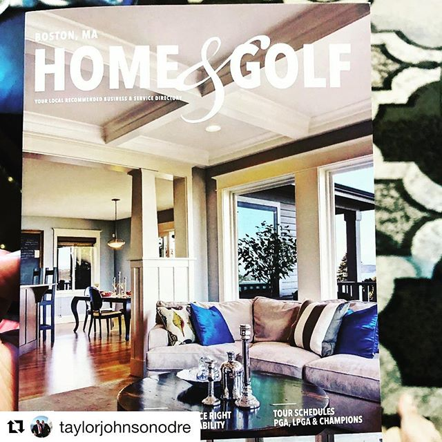 Thanks for the post! 🙌🏽 #tbt • #Repost @taylorjohnsonodre with @get_repost ・・・ New #homeandgolf magazine for 2019 is out... 👀 first page. ❤️