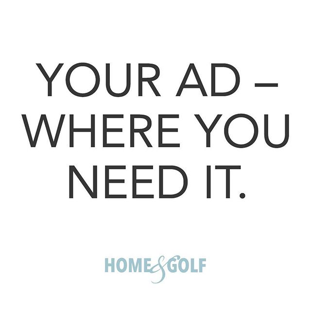 Ready to get the word out to the customers you want? Contact our team to get started today!  Link in bio ⬆️⬆️⬆️ • • • #homeandgolf #print #advertising #ad #marketing #magazine #business #local #localbusiness #luxury #luxurylifestyle #e3create
