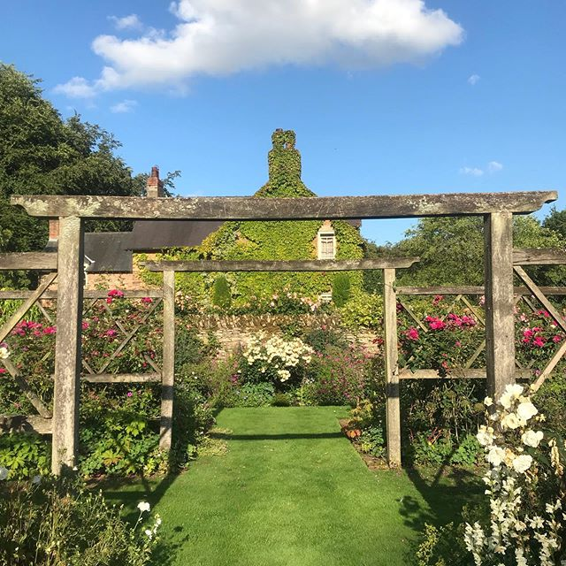 """I wandered lonely as a cloud"" ⛅️ . . . . #jacksonswoldgarden #walledgarden #ngs #summer #countryside #blueskies #clouds #countrygarden #july #garden #yorkshire #thewolds #plants #flowers #nature #countrylife #wordsworth"