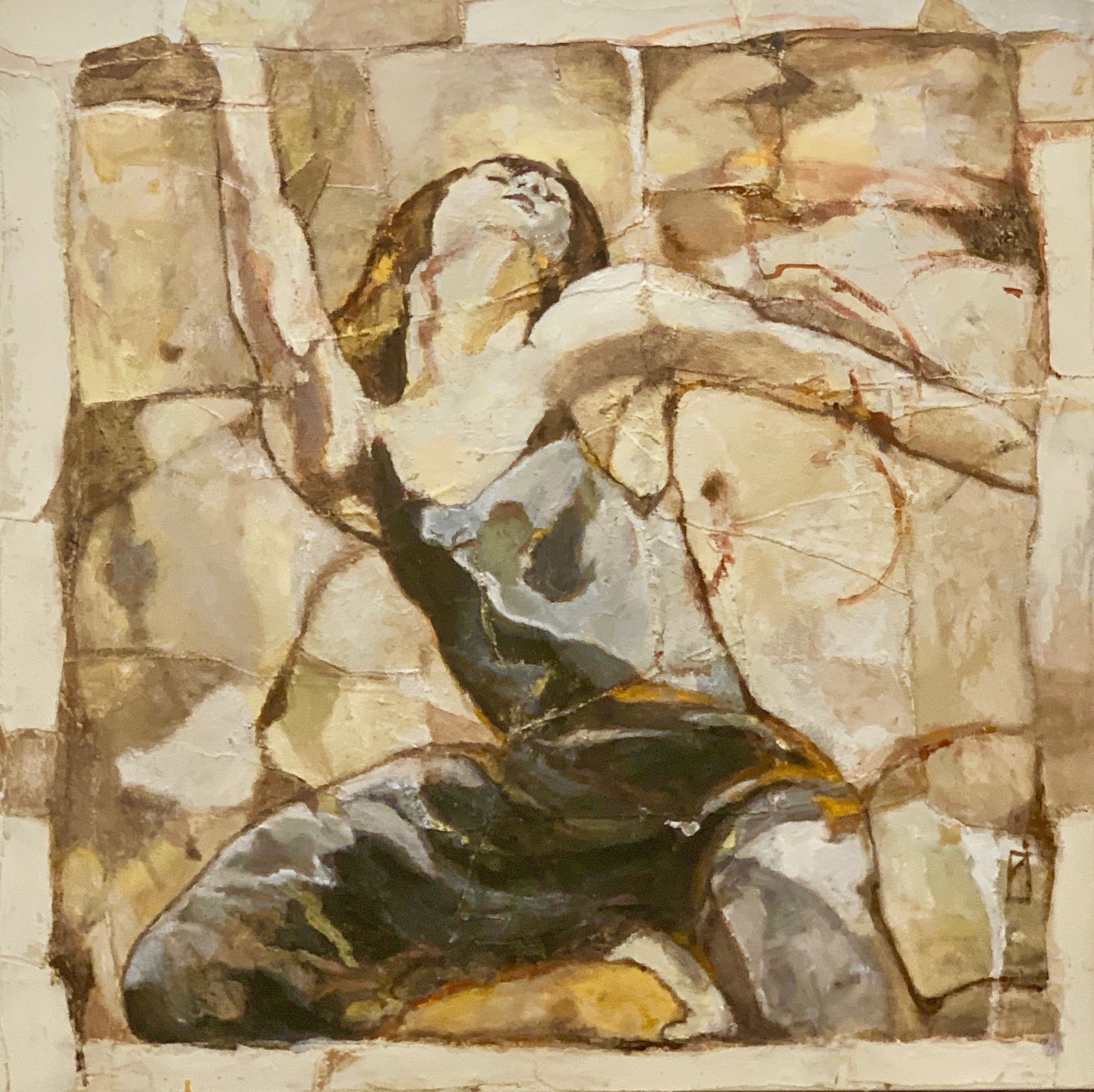 "Moderne II  oil on canvas  40"" x 40"""
