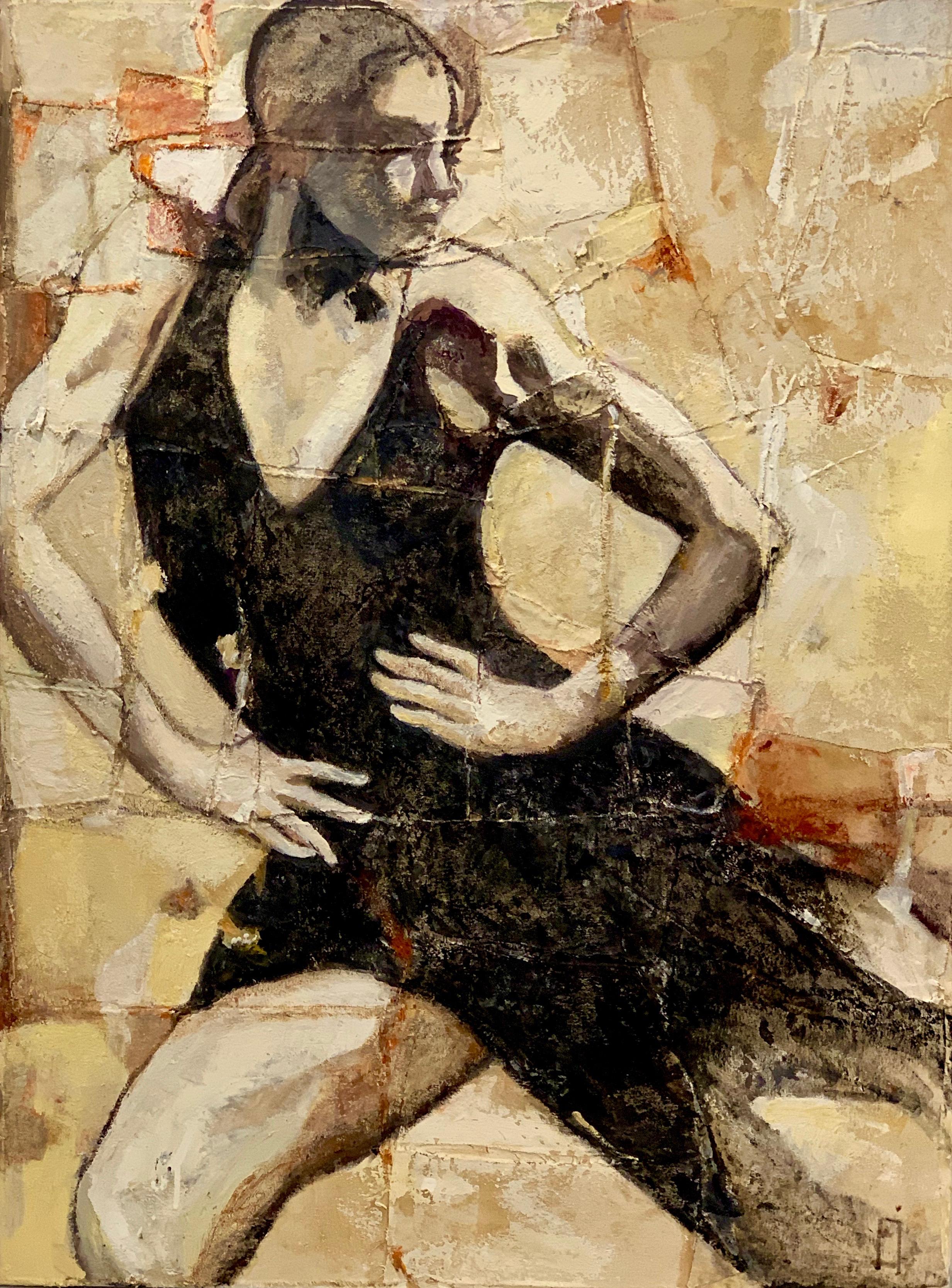 "Tango  oil on canvas. 30"" X 40"""