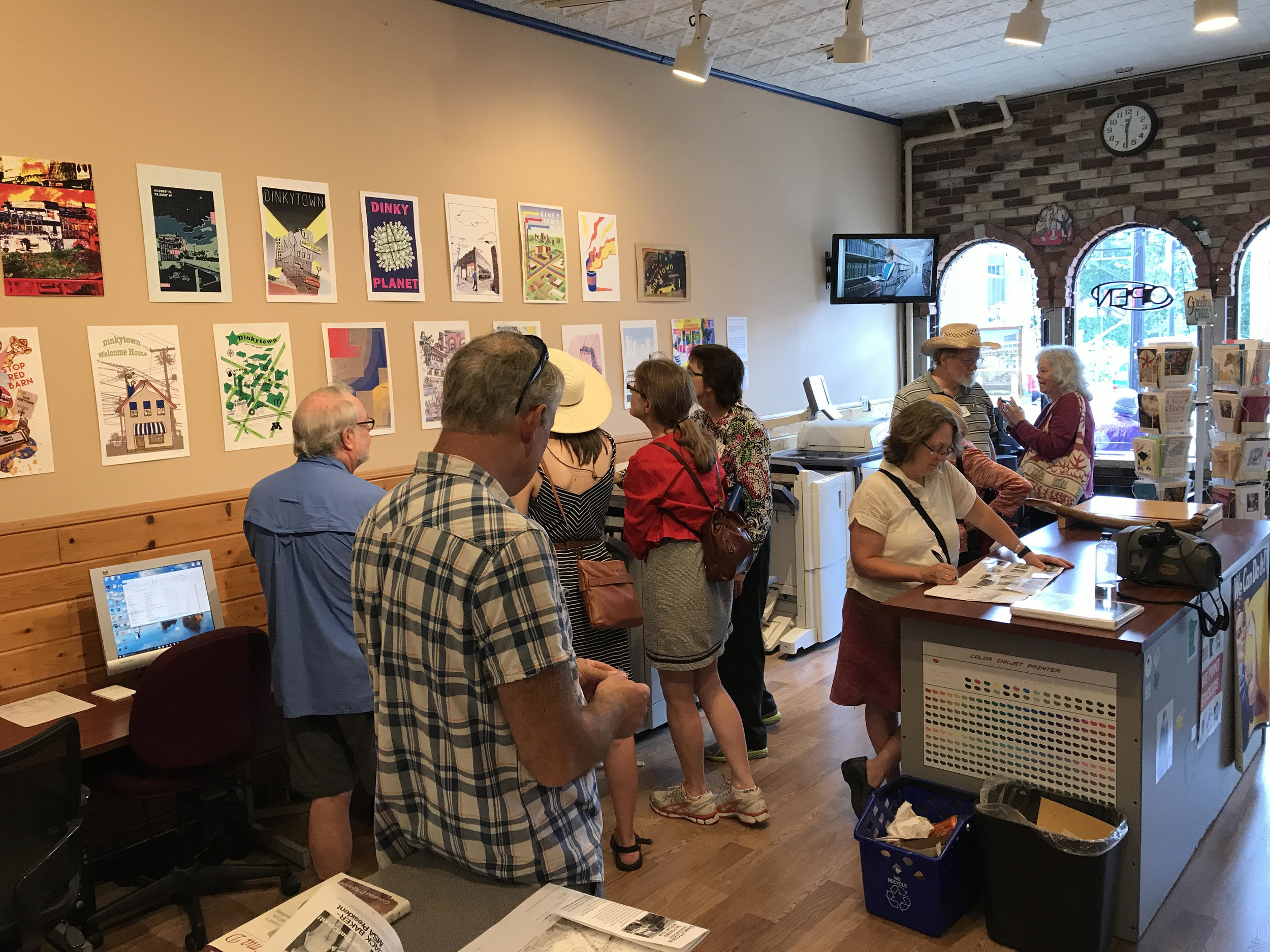 The Dinkytown historic walking tours have been a great success! Stop by Alpha Print and check out the student gallery, Dinkytown Posters: A Sense of Place.  https://lnkd.in/gqzmJbC