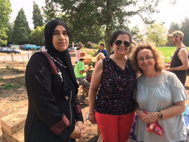 Noha Alhariri, Silva and friend- amazing cooks and terrific gardeners!