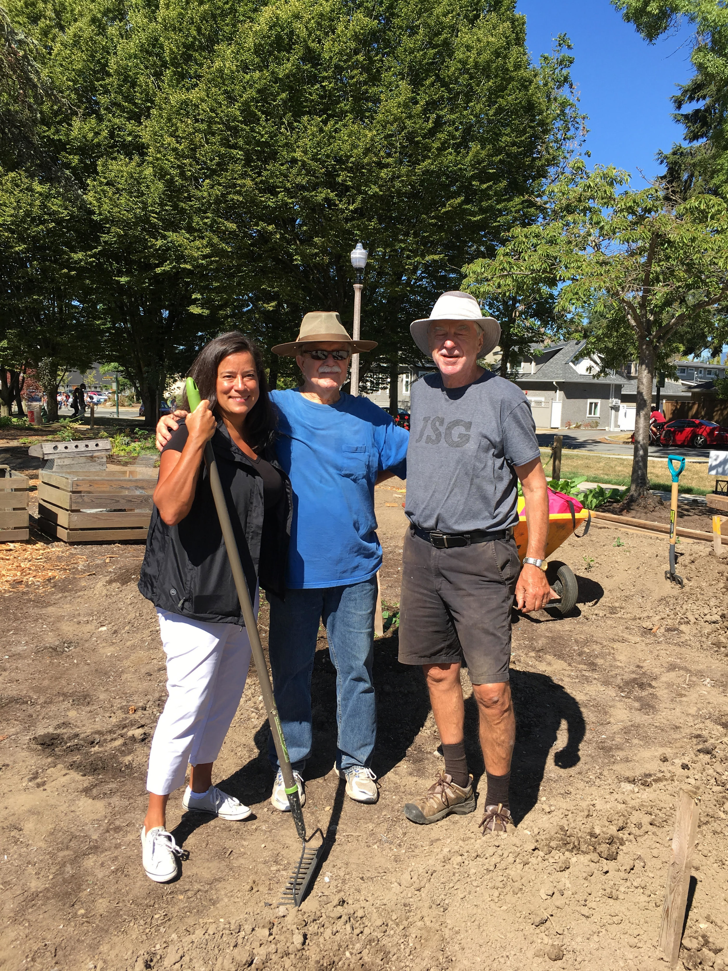 MP Jody Wilson-Raybould with Norm Dooley and Dr Art Bomke.