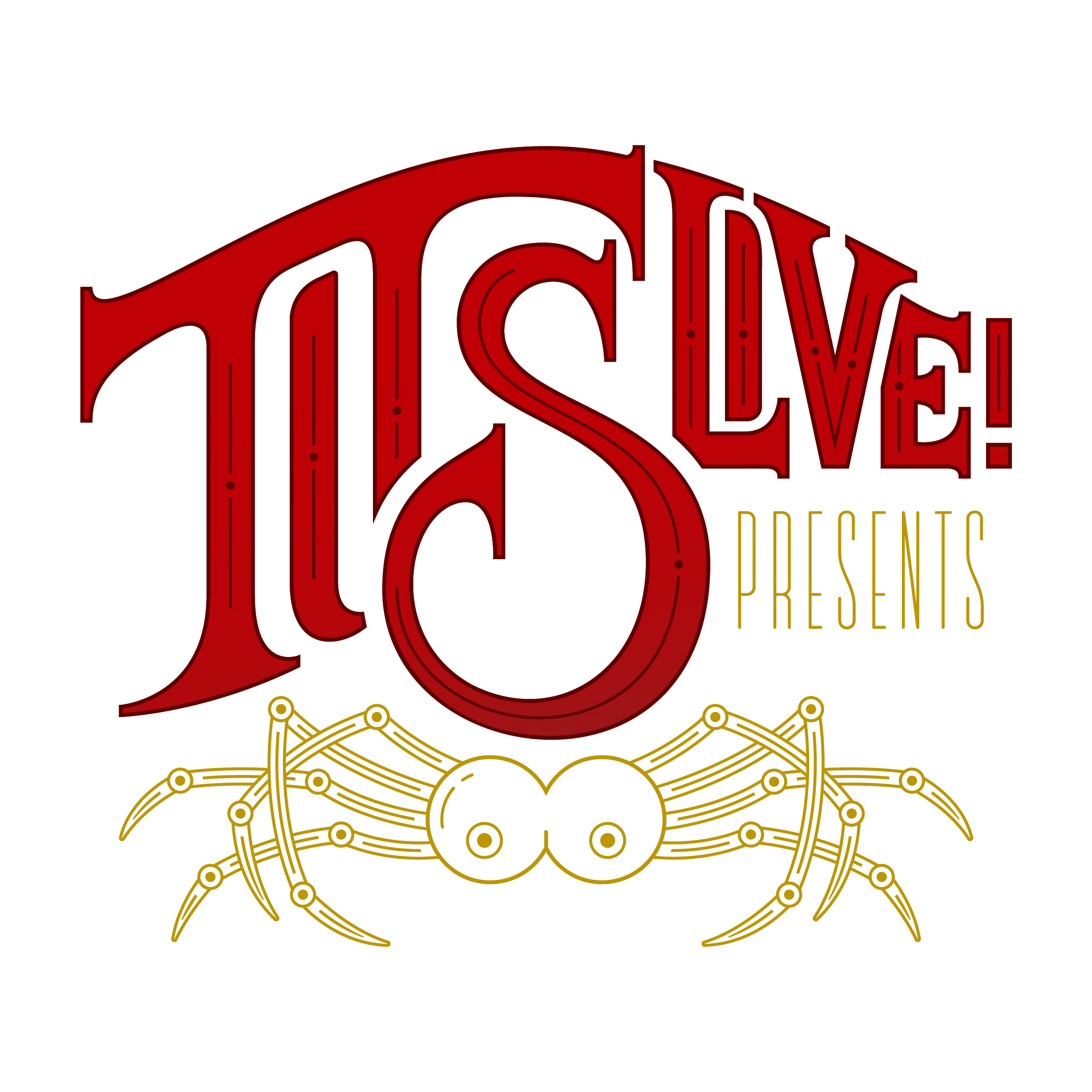 TITS LIVE! PRESENTS - Tits Live! Presents is a burlesque production company. They wanted a logo that represented their culture in the same way as their name: raunchy and a parody of the belief that burlesque is sexual in nature and an entertainment of the flesh.