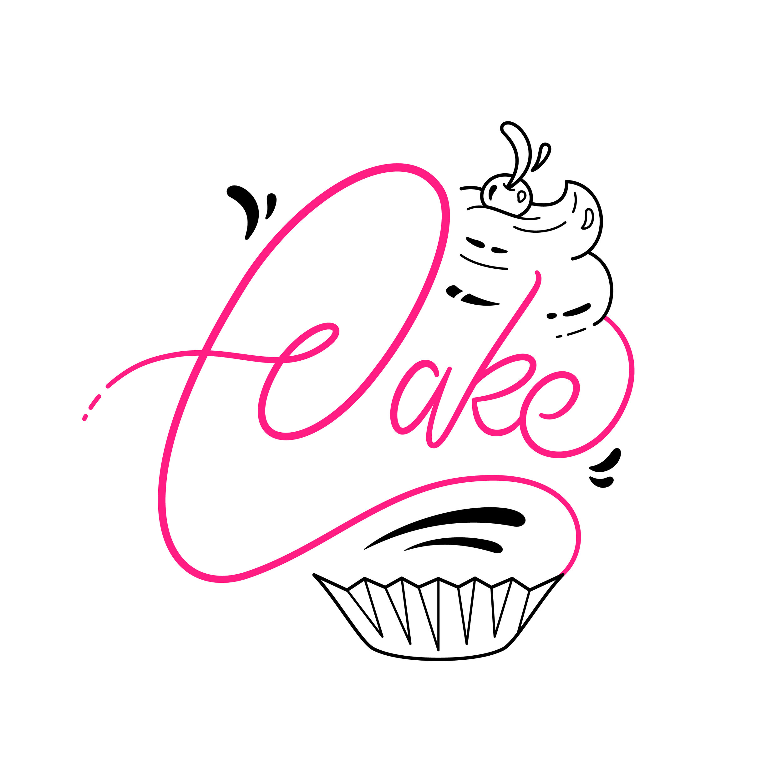 CAKE - Singer/songwriter, Cake, was looking for a logo that represented her as an artist and person. Something sweet with a little bit of edge.