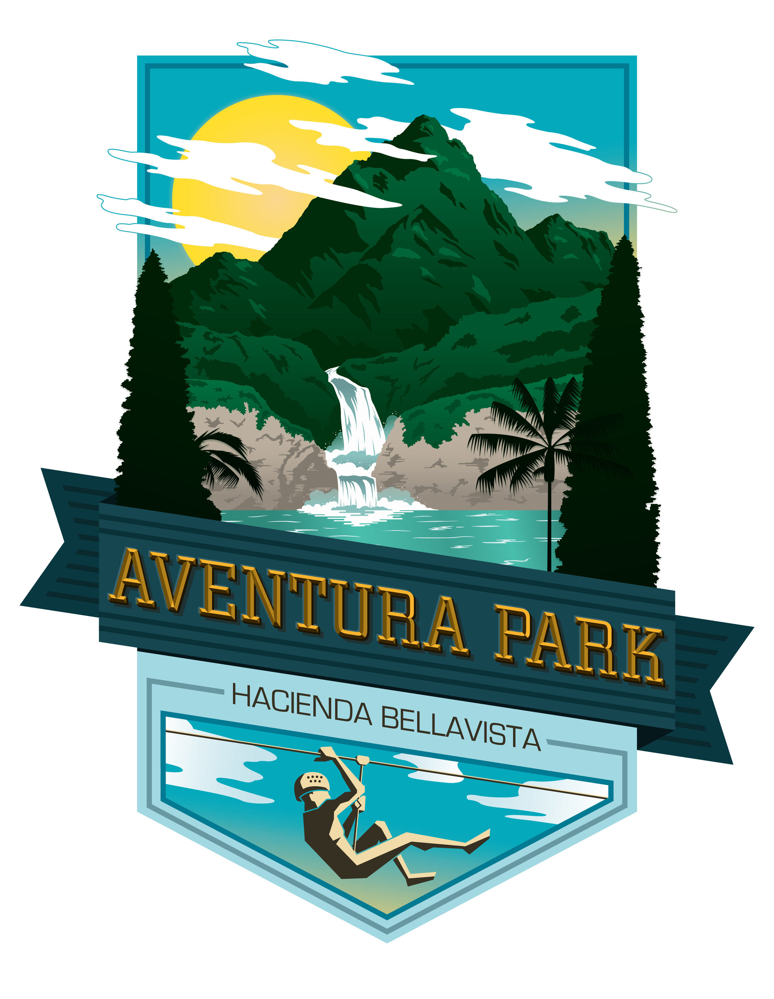 AVENTURA PARK - BRANDING | FREELANCEAventura Park is an Adventure park in Ecuador that specializes in zip-lining, boating and other outdoor activities. Design concept was influenced by Ecuador's lush foliage and picturesque scenery.