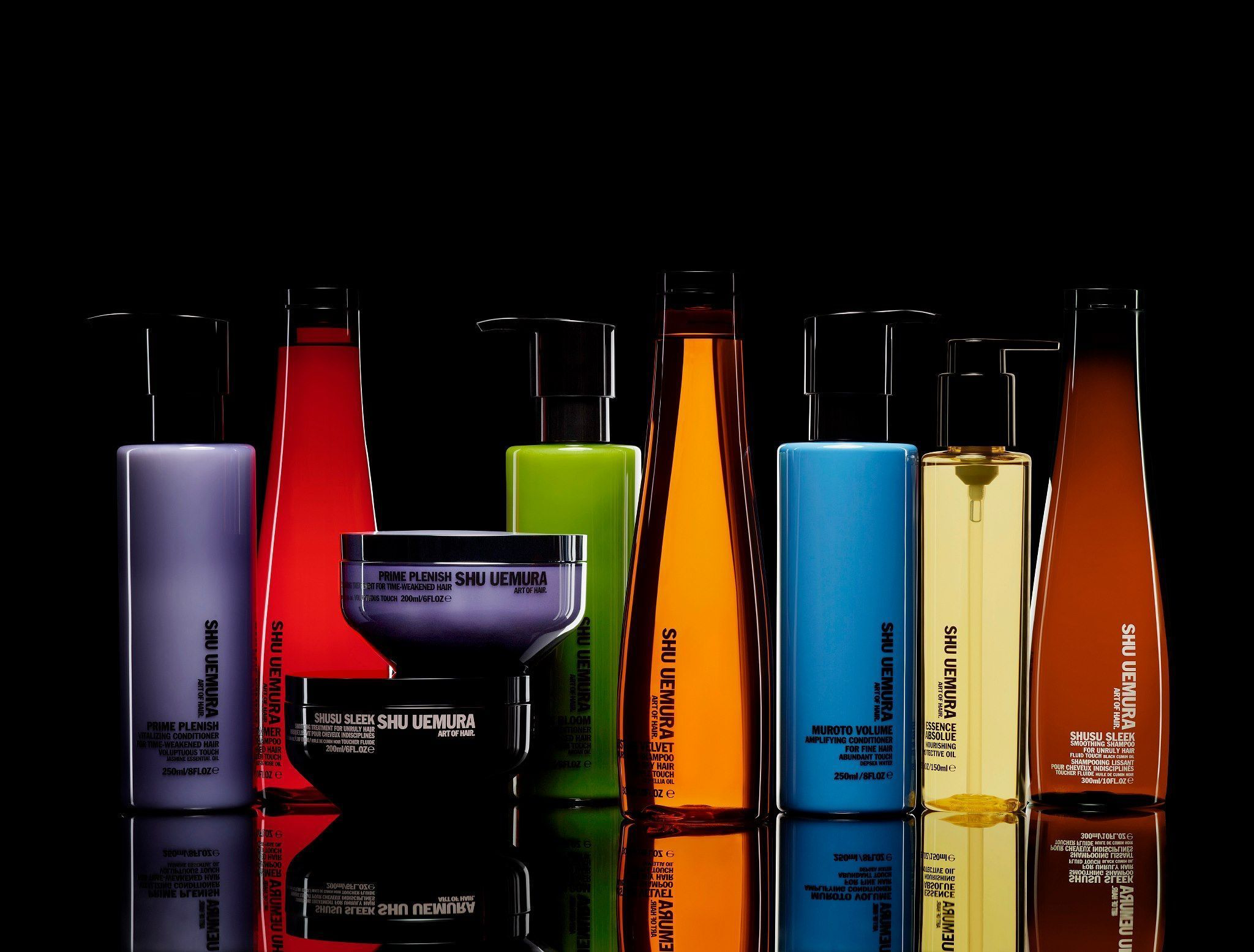 Shu Uemura  - Shu UemuraArt ofHairMr.Shu Uemura. With his same unwavering passion for creating innovations in skincare and makeup, Mr.Uemuraexpanded his beauty expertise to launchShu UemuraArt ofHairin 2007. His goal was to highlight the artistry of hairdressing as an extension of a woman's beauty.