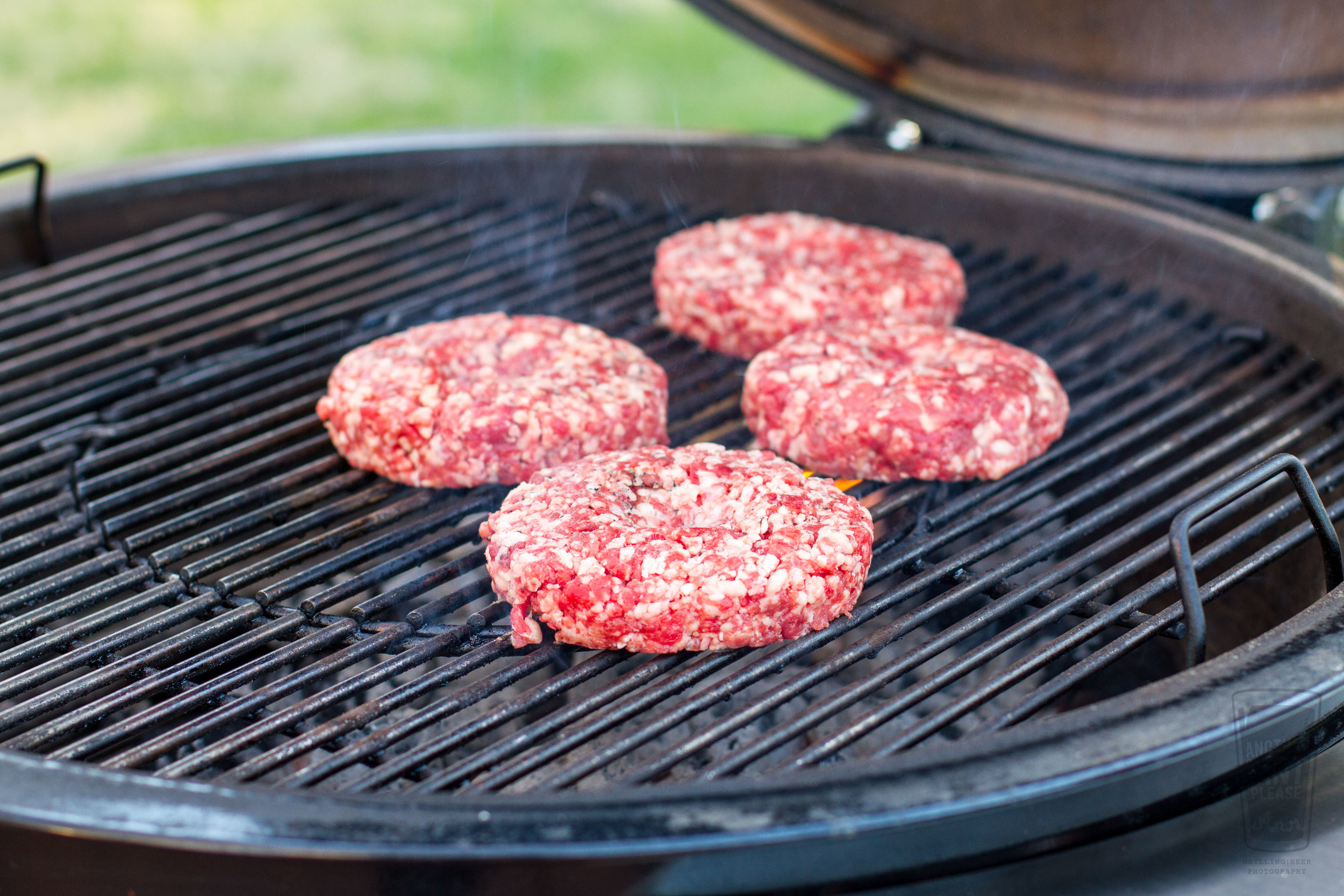 Hamburgers on Weber Grill