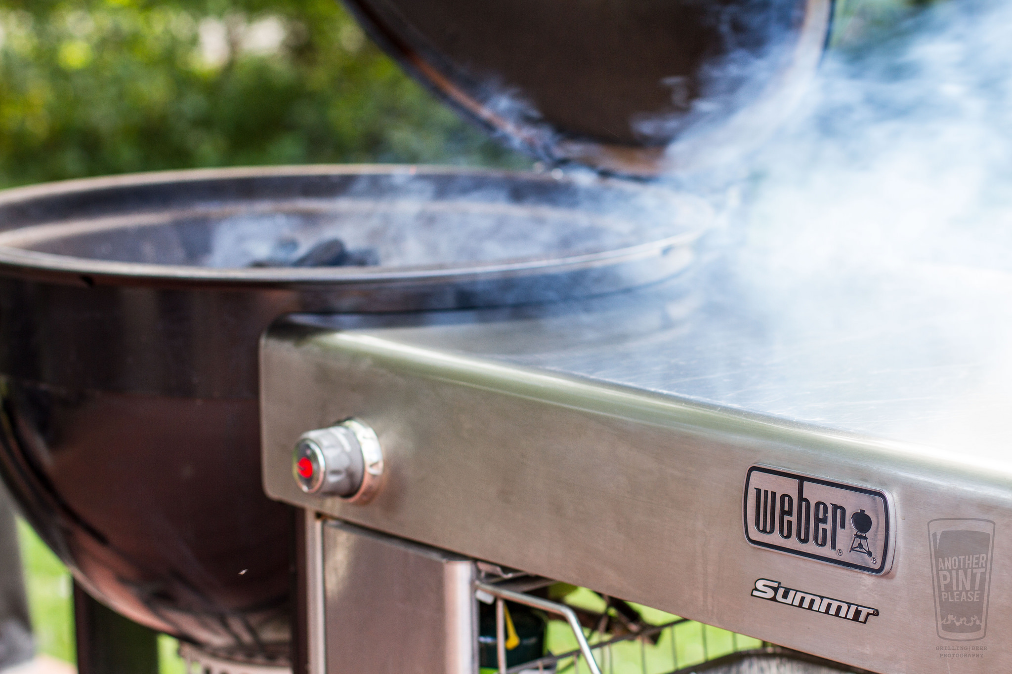 lit charcoal on the summit charcoal grill.jpg