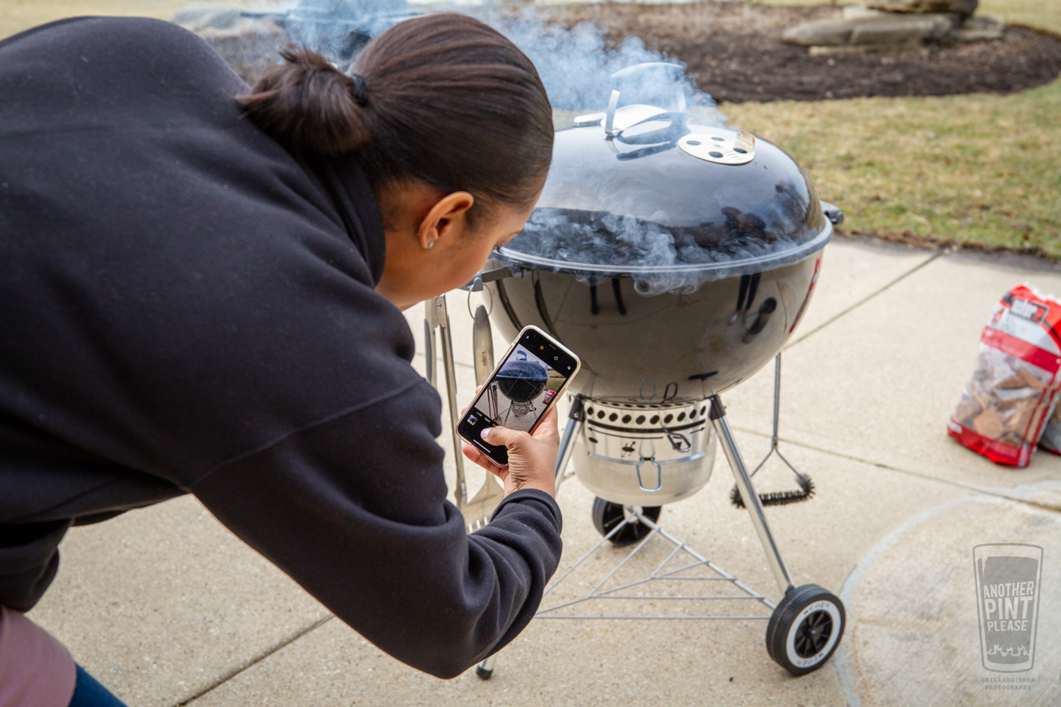 Shooting Weber Kettle with iPhone