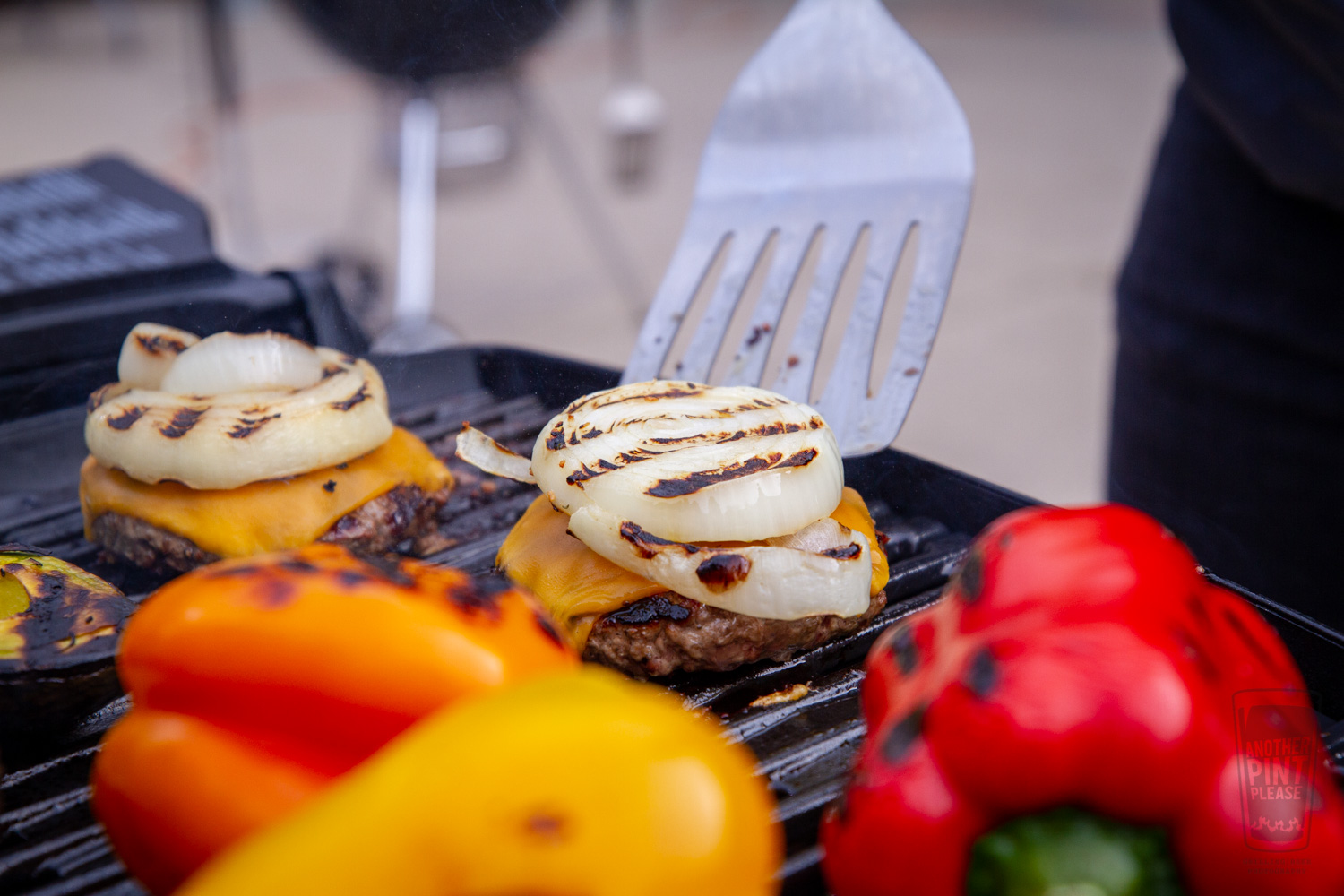 Grilled Cheeseburger with Onion