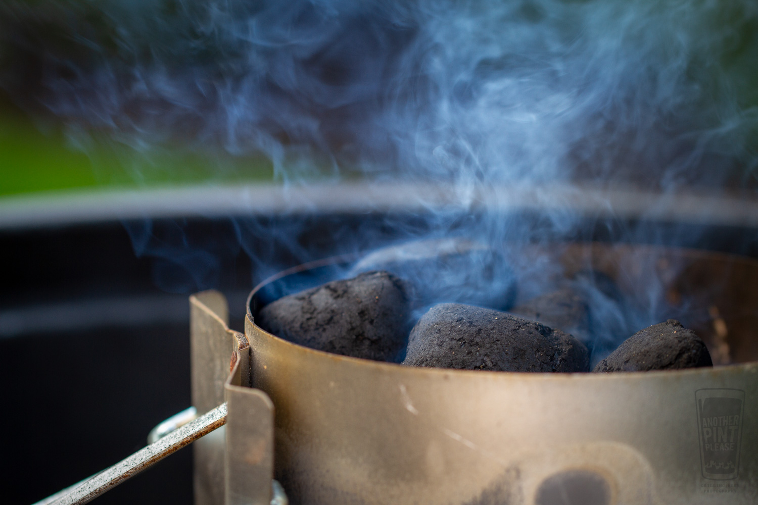 Smoke off the Charcoal Chimney