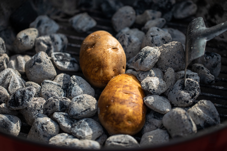 Potatoes in Coals