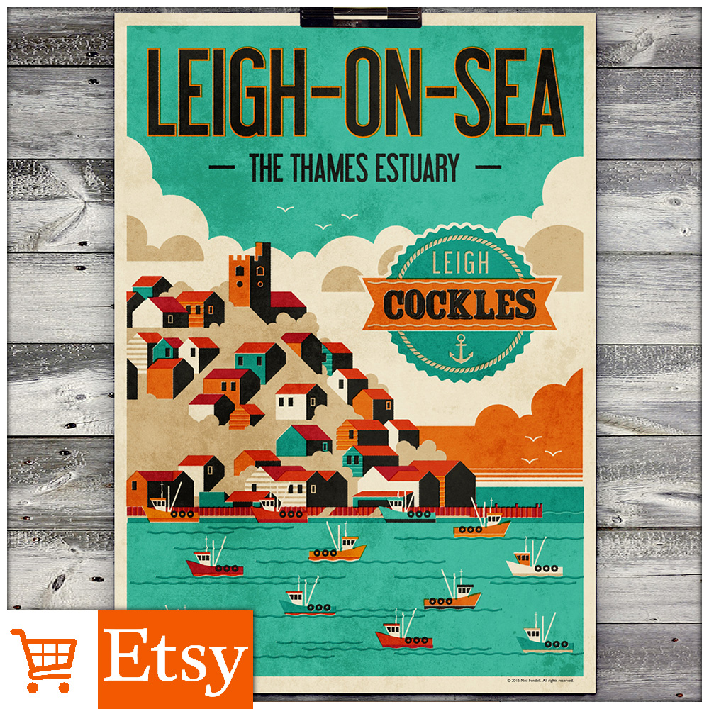 Leigh-on-Sea - Leigh Cockles - A2 & A4 Posters