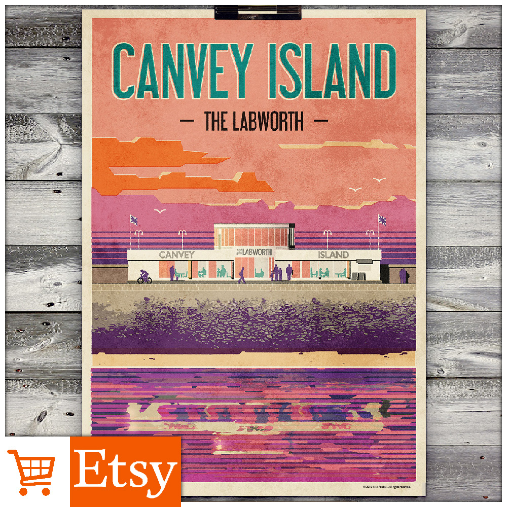 Canvey Island - The Labworth A2 Poster