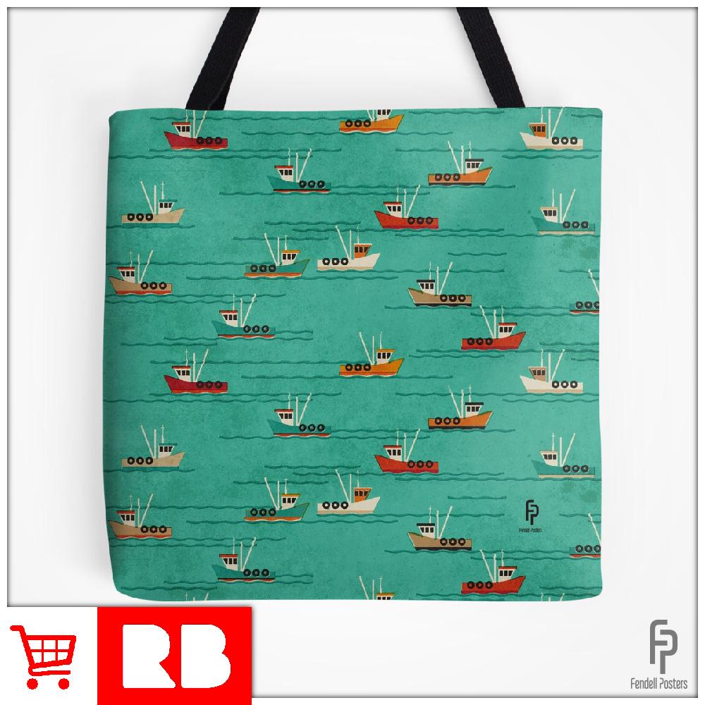 Leigh Fishing Trawlers - Tote Bag