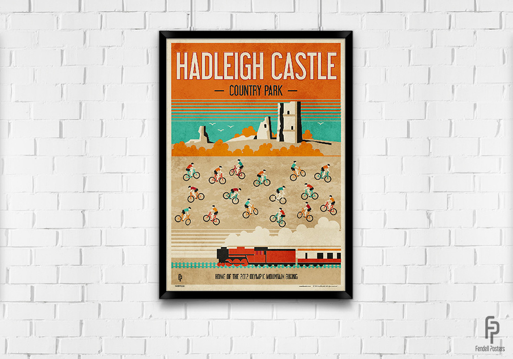 Hadleigh Castle - Country Park - A2 Framed