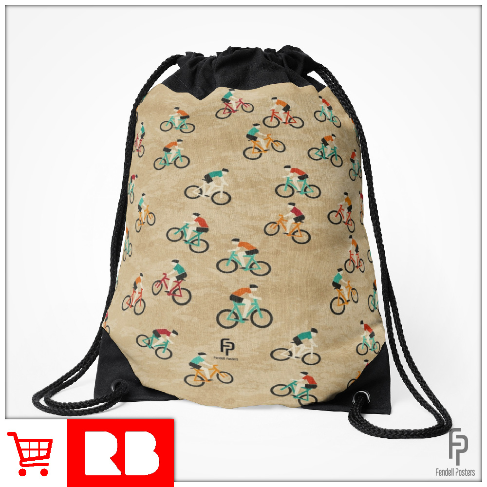 Mountain Biking - Drawstring Bag