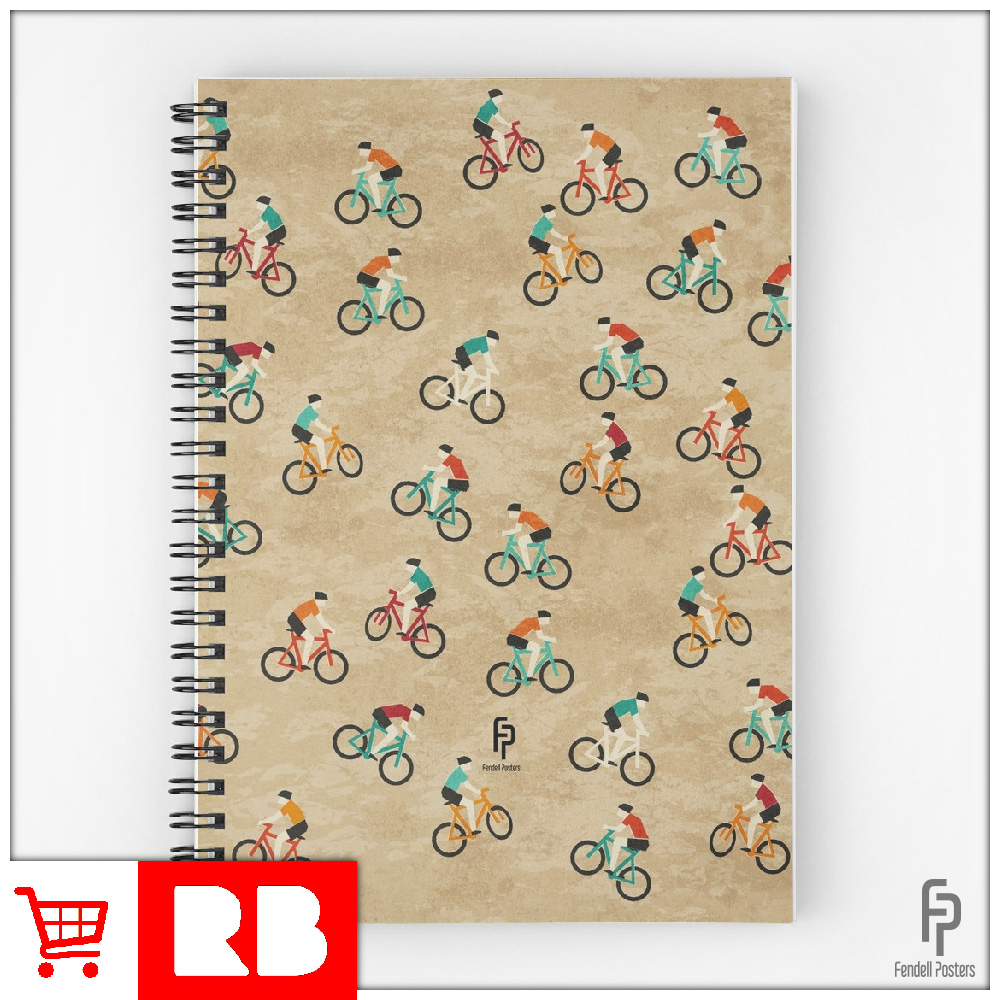 Mountain Biking - Spiral Notebook