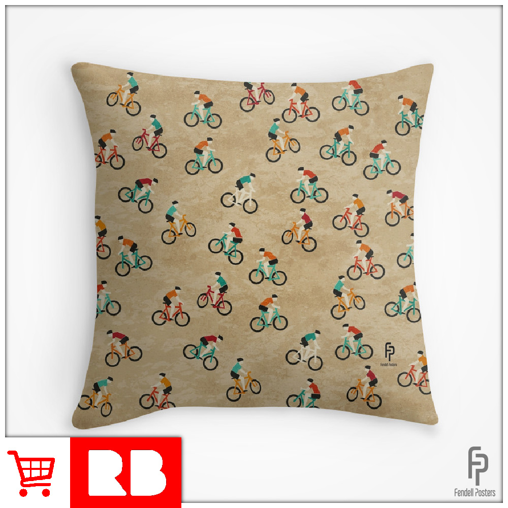 Mountain Biking - Throw Pillow