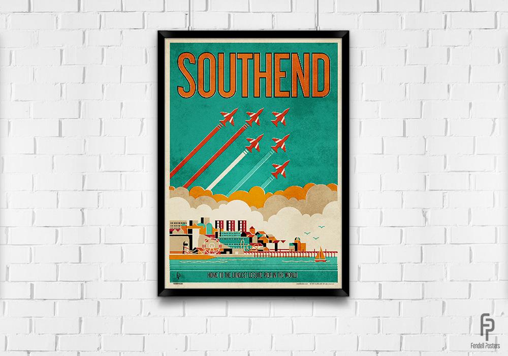 Southend - A2 Framed
