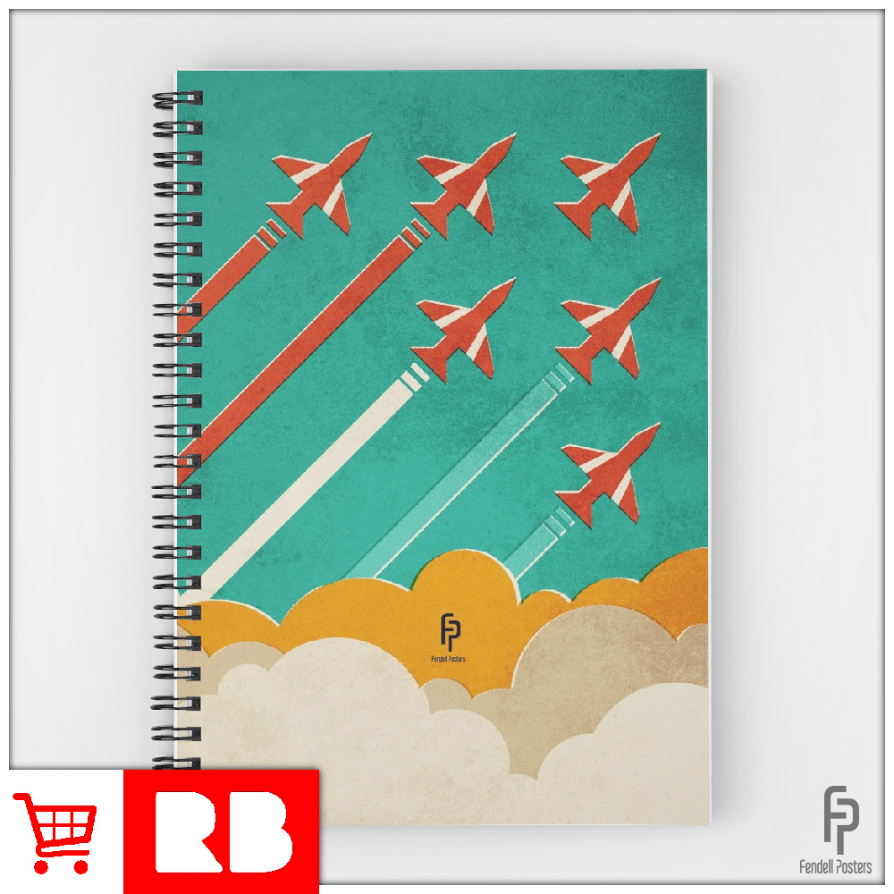 Red Arrows - Spiral Notebook
