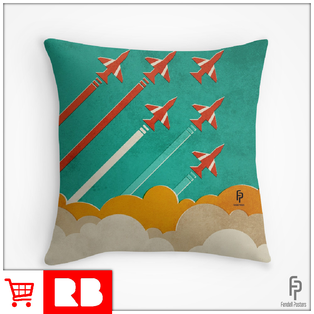 Red Arrows - Throw Pillow