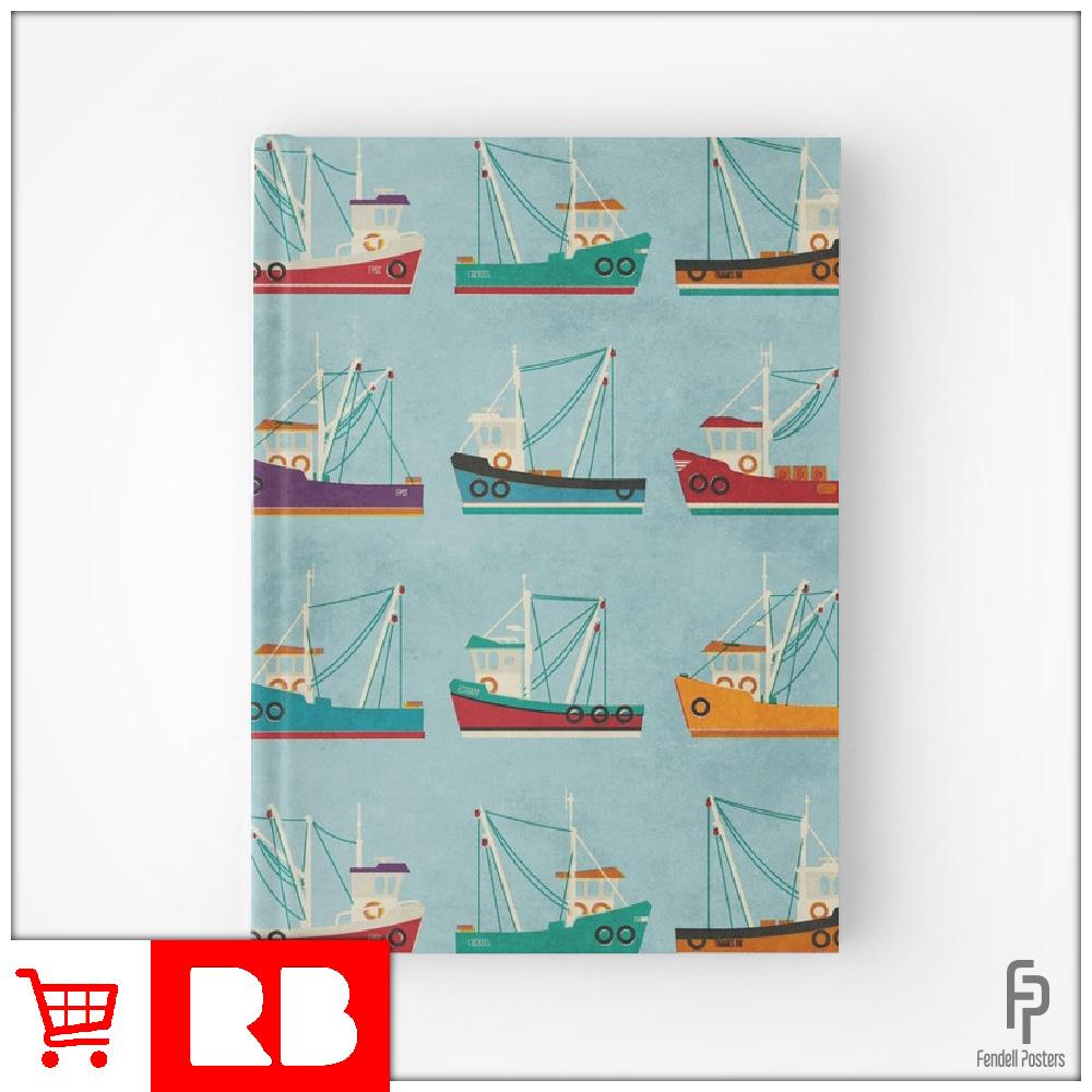 Fishing Trawler - Hardcover Journals