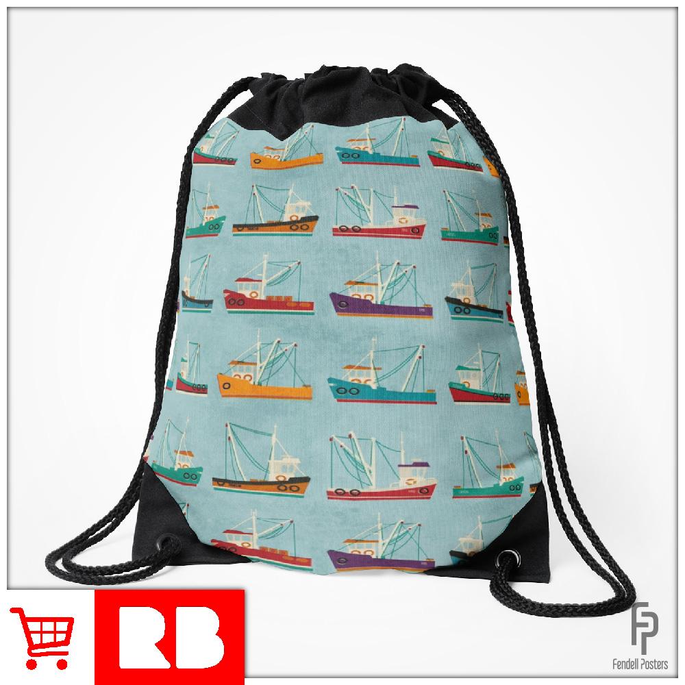 Fishing Trawler - Drawstring Bag